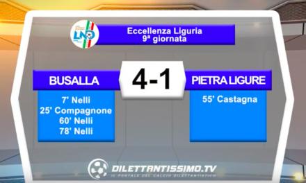 BUSALLA – PIETRA LIGURE 4-1: Highlights della partita
