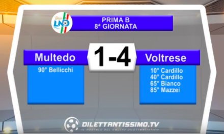 MULTEDO – VOLTRESE 1-4: Highlights della partita + interviste