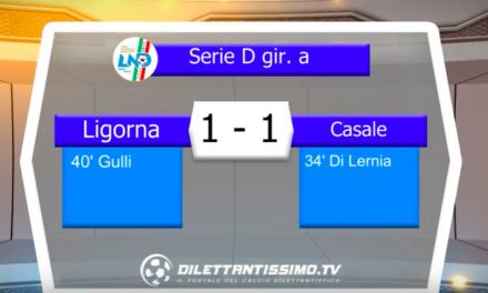 LIGORNA – CASALE 1-1: Highlights
