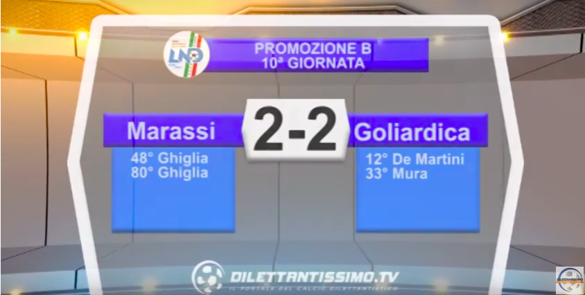 MARASSI – GOLIARDICA 2-2: Highlights della partita + interviste