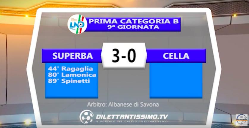 SUPERBA – CELLA 3-0: Highlights della partita + interviste
