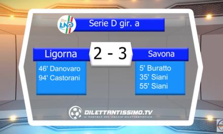VIDEO – LIGORNA – SAVONA 2-3: le immagini del match