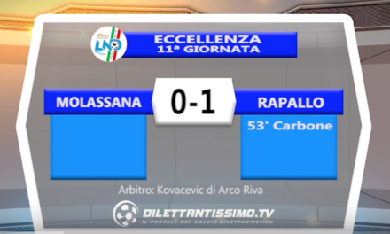 VIDEO – MOLASSANA – RAPALLO 0-1: le immagini del match e le interviste