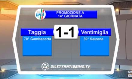 TAGGIA – VENTIMIGLIA 1-1: Highlights della partita