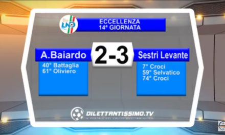 A. BAIARDO – SESTRI LEVANTE 2-3: Highlights della partita