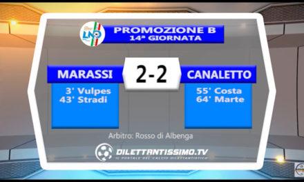 MARASSI – CANALETTO 2-2: Highlights della partita + interviste
