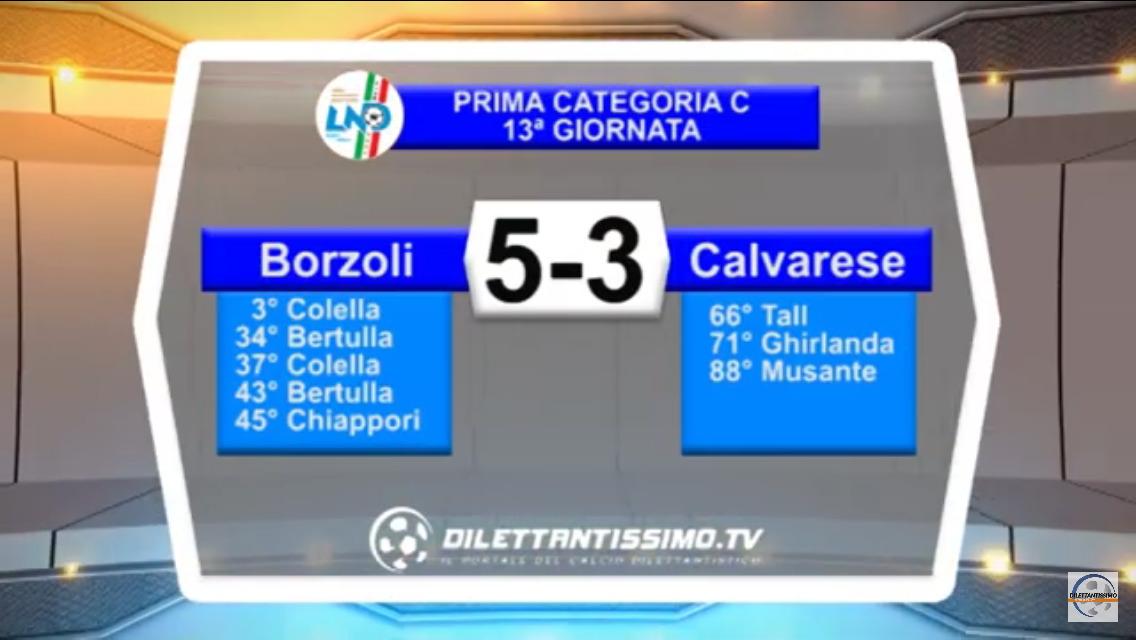 BORZOLI – CALVARESE 5-3: Highlights della partita