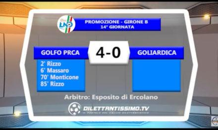 GOLFO PRCA – GOLIARDICA 4-0: Highlights della partita + interviste