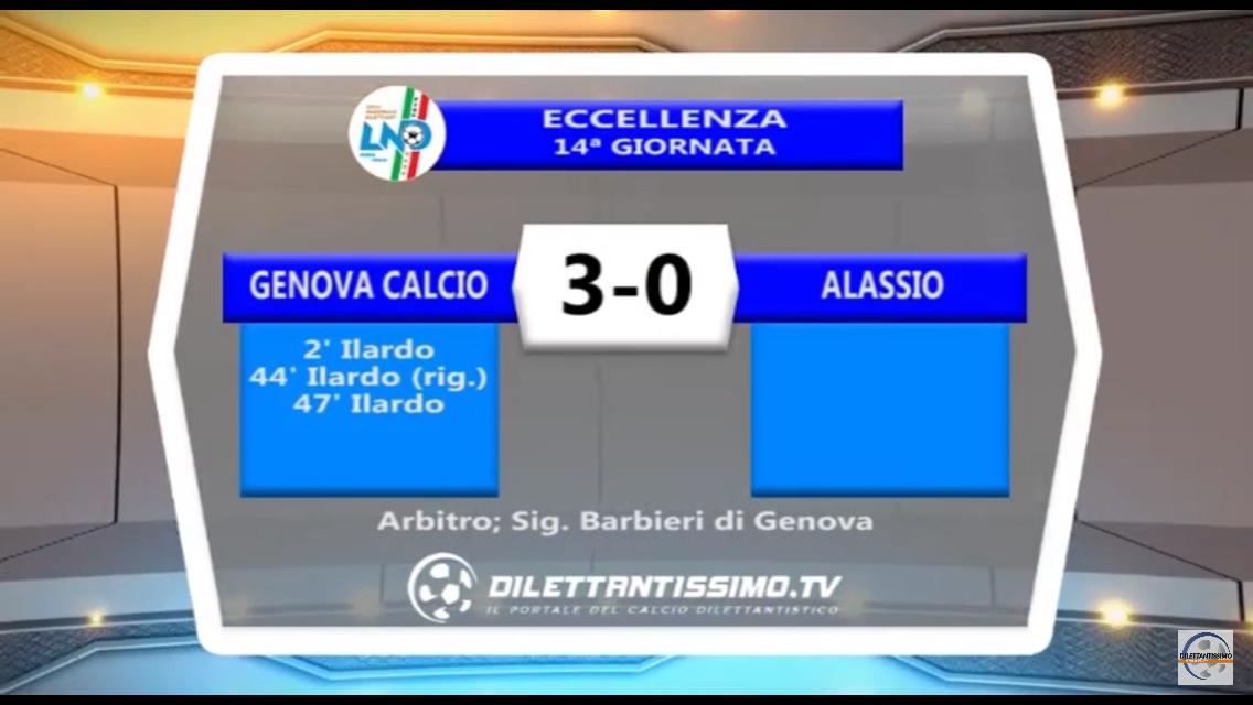 GENOVA CALCIO – ALASSIO 3-0: Highlights della partita + interviste