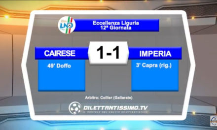 VIDEO: CAIRESE – IMPERIA 1-1 Highlights