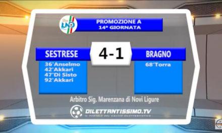 SESTRESE – BRAGNO 4-1: Highlights della partita + interviste