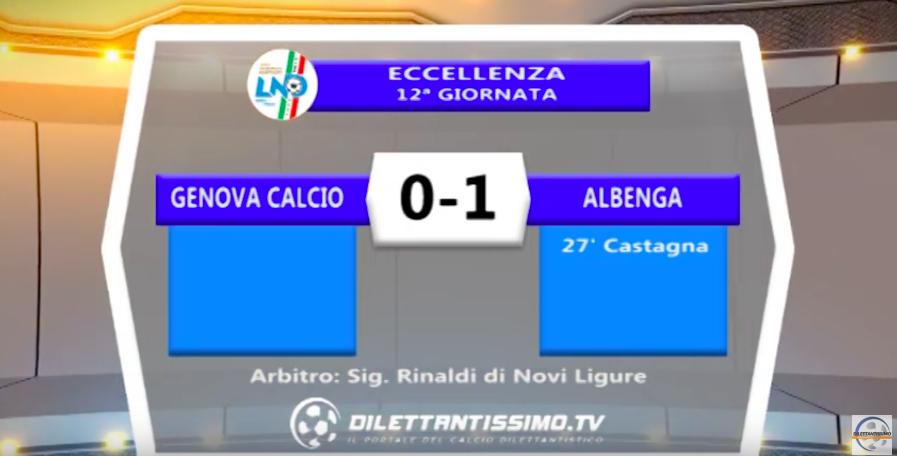 GENOVA CALCIO – ALBENGA 0-1: Highlights + moviola e interviste