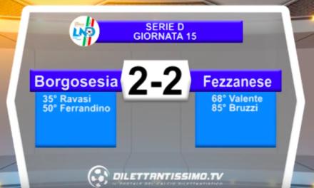 BORGOSESIA – FEZZANESE 2-2: Highlights della partita