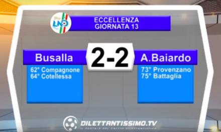 BUSALLA – A. BAIARDO 2-2: Highlights della partita