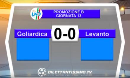 GOLIARDICAPOLIS – LEVANTO CALCIO 0-0: Highlights della partita + interviste