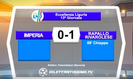 IMPERIA – RAPALLO RIVAROLESE 0-1: Highlights della partita + interviste