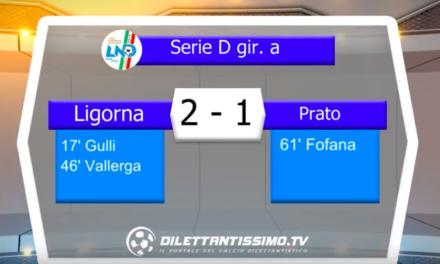 LIGORNA – PRATO 2-1: Highlights della partita + interviste