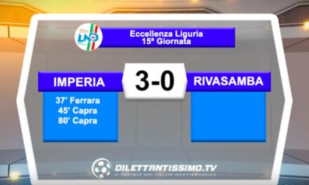 IMPERIA – RIVASAMBA 3-0: Highlights della partita + interviste