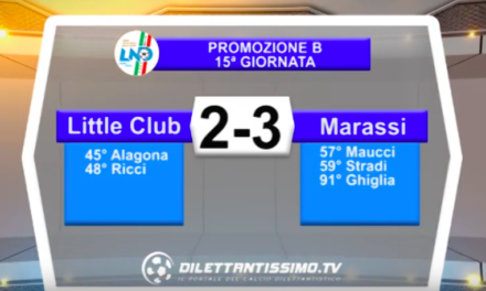 LITTLE CLUB JAMES – MARASSI 1965 2-3: Highlights della partita