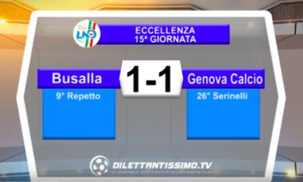 BUSALLA – GENOVA CALCIO 1-1: Highlights della partita + interviste