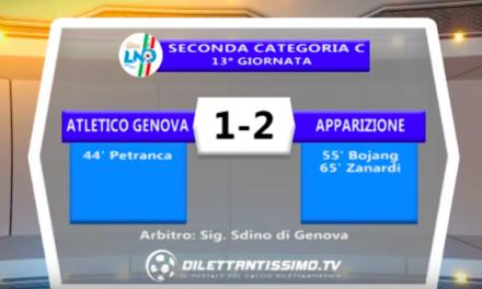ATLETICO GENOVA – APPARIZIONE 1-2: Highlights della partita + interviste