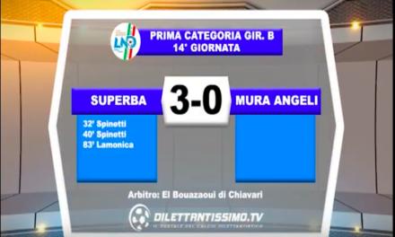 SUPERBA – MURA ANGELI 3-0: Highlights della partita + interviste