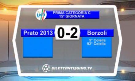 PRATO 2013-BORZOLI 0-2: HIGHLIGHTS DELLA PARTITA
