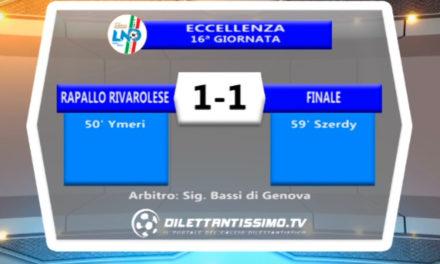 RAPALLO RIVAROLESE – FINALE 1-1: HIGHLIGHTS DELLA PARTITA