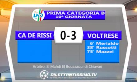CA DE RISSI – VOLTRESE 0-3: Highlights della partita