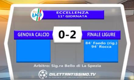GENOVA CALCIO – FINALE LIGURE 0-2: Highlights della partita + interviste