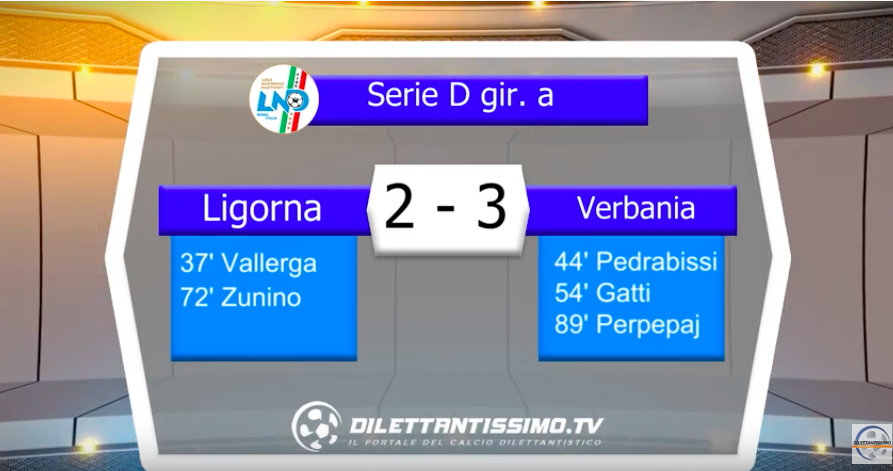 LIGORNA – VERBANIA 2-3: Highlights della partita