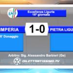 IMPERIA – PIETRA LIGURE 1-0: HIGHLIGHTS DELLA PARTITA