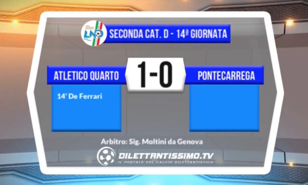 ATLETICO QUARTO – PONTECARREGA 1-0 : HIGHLIGHTS DELLA PARTITA