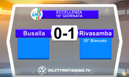 BUSALLA – RIVASAMBA 0-1: HIGHLIGHTS DELLA PARTITA