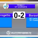 PROGETTO ATLETICO – BORZOLI 0-2: HIGHLIGHTS DELLA PARTITA