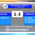 MARASSI – CADIMARE 1-3: HIGHLIGHTS DELLA PARTITA