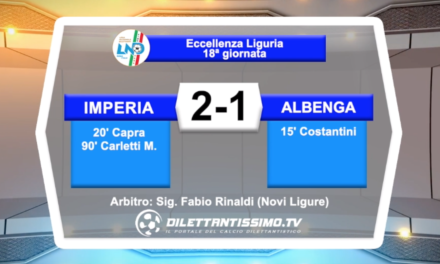 IMPERIA – ALBENGA 2 – 1: HIGHLIGHTS DELLA PARTITA + INTERVISTE