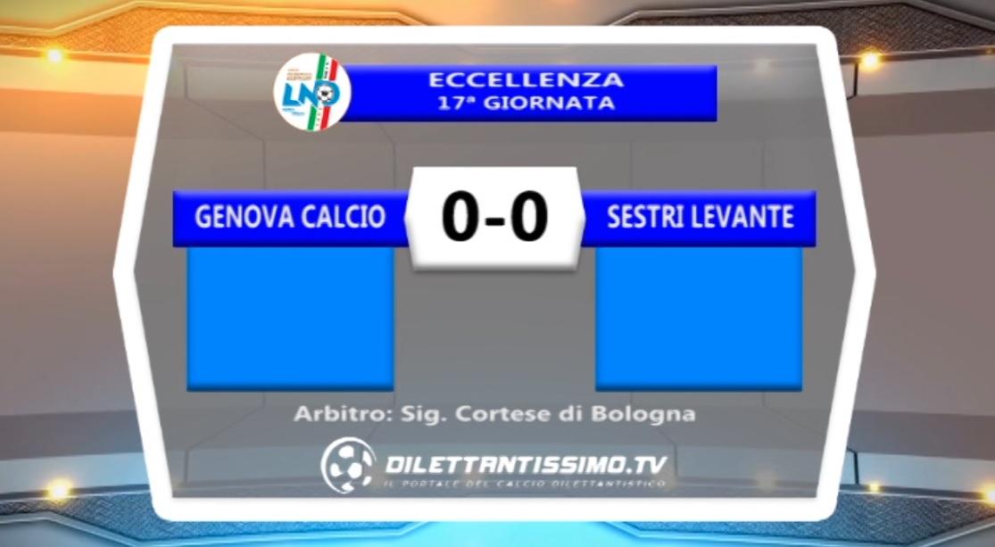 GENOVA CALCIO – SESTRI LEVANTE 0-0: HIGHLIGHTS DELLA PARTITA + INTERVISTE