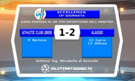 ATHLETIC CLUB LIBERI – ALASSIO 1-2: HIGHLIGHTS DELLA PARTITA + INTERVISTE