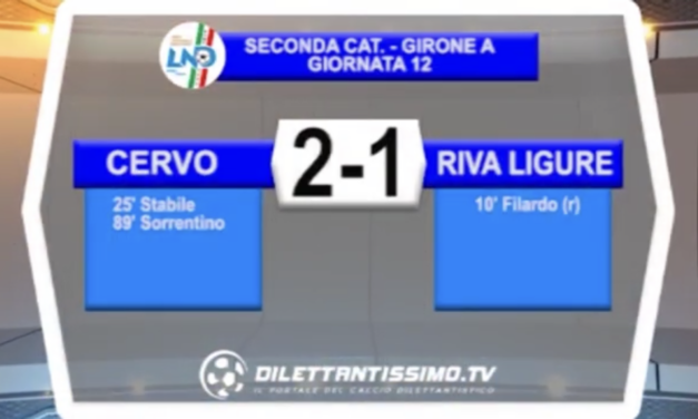 CERVO-RIVA LIGURE: HIGHLIGHTS DELLA PARTITA