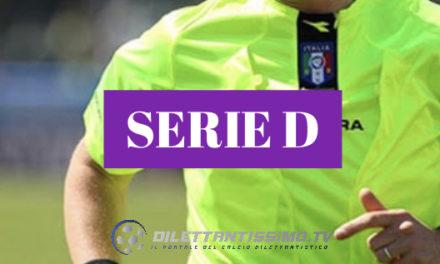 SERIE D: Le designazioni arbitrali