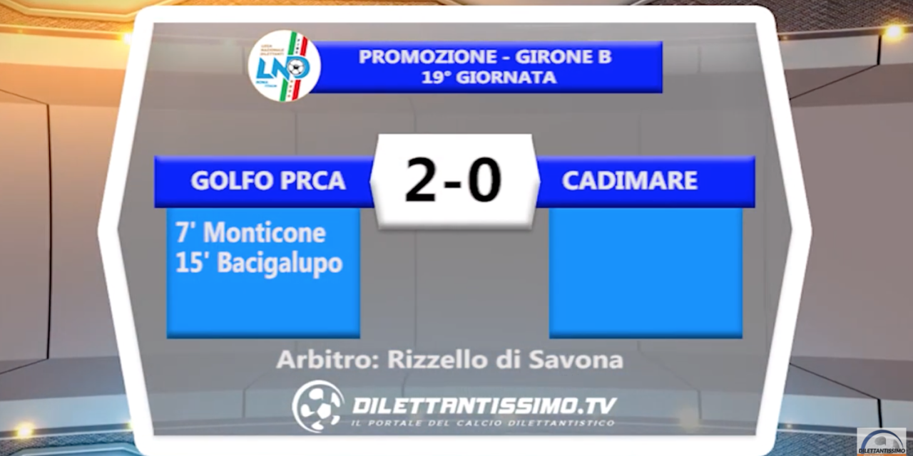 GOLFO PRCA – CADIMARE 2-0: HIGHLIGHTS DELLA PARTITA + INTERVISTE