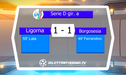 LIGORNA – BORGOSESIA: HIGHLIGHTS DELLA PARTITA
