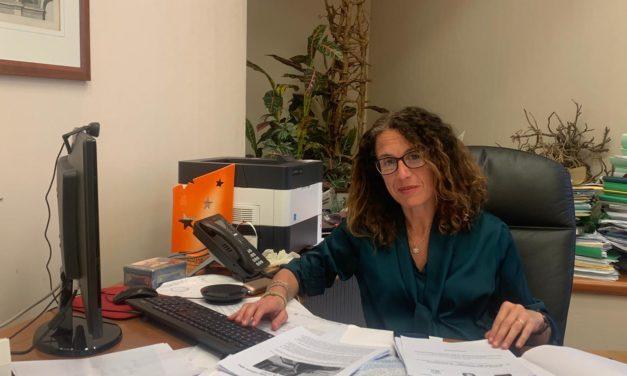 Ilaria Cavo in visita al Ligorna