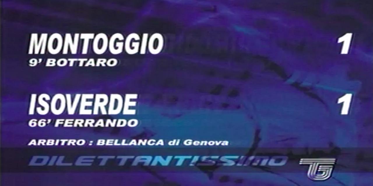 Accadde il… 2006/07: Montoggio-Isoverde 1-1