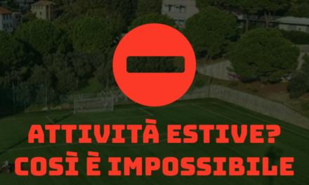 Athletic Club e Vallescrivia: «Calcio d'estate? Così Impossibile ripartire!»