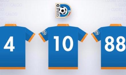 Serie D, novità: consentito il nome personalizzato sulle maglie!