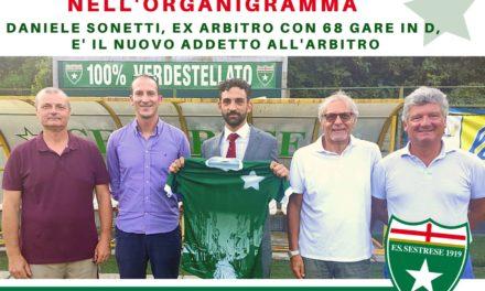 Sestrese: Daniele Sonetti nuovo Addetto all'Arbitro