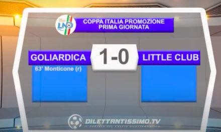 Coppa Italia PROMOZIONE: Goliardica – Little Club 1-0 gli highlights della partita