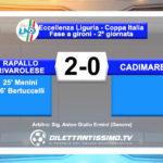 VIDEO – Rapallo Rivarolese – Cadimare 2-0: le immagini del match